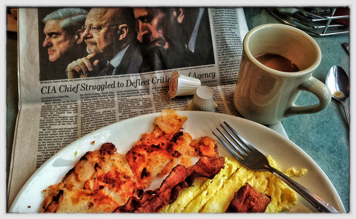 Breakfast and the Wall Street Journal