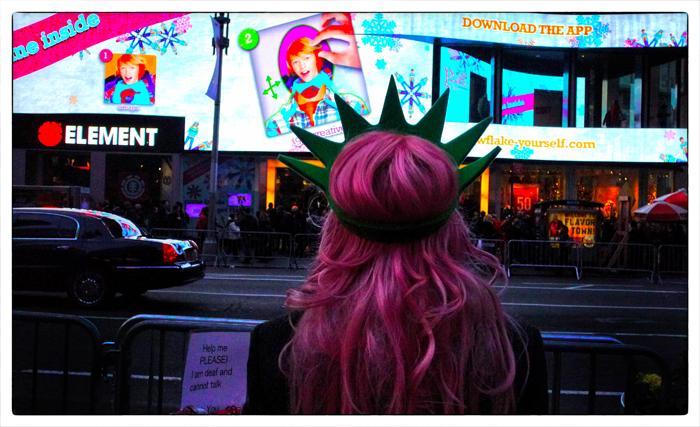 Times Square Pink Hair